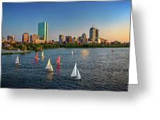 Boston Skyline Summer 2018 Greeting Card