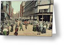 Boston: Washington Street Greeting Card