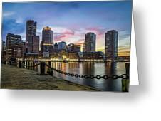 Boston,ma Sunset Greeting Card