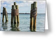 Boston's Harbor Greeting Card