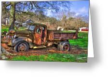 Boswell 1947 Dump Truck Farm Scene Greeting Card