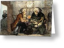 Boswell And Johnson, 1786 Greeting Card