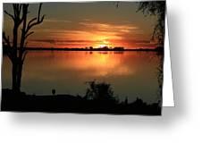 Botswanna Sunset Greeting Card