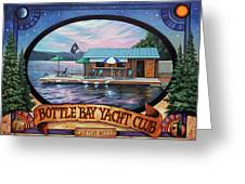 Bottle Bay Yacht Club Greeting Card
