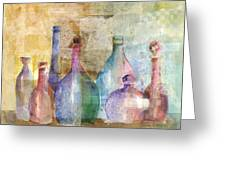 Bottle Collage Greeting Card