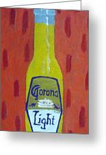 Bottle Of Corona Light Greeting Card