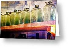 Bottle Row Greeting Card