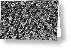 Bottle Wall Black And White Greeting Card