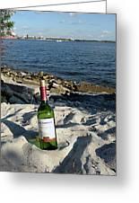 Bottled Beach Greeting Card