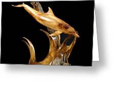 Bottlenose Dolphin Greeting Card by Kjell Vistnes