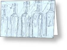 Bottles 2 Greeting Card