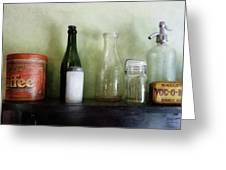 Bottles And A Coffee Can Greeting Card