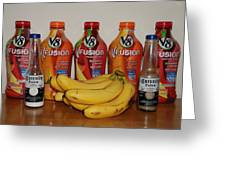 Bottles N Bananas Greeting Card
