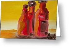 Bottles Of Hot Sauce Greeting Card