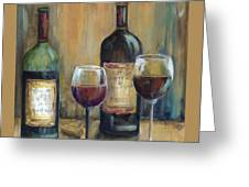 Bottles Of Red Greeting Card
