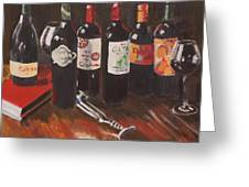 Bottles Of Wine Greeting Card