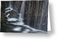 Bottom Of A Waterfall #3 Greeting Card