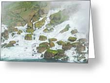 Bottom Of American Niagara Falls Greeting Card