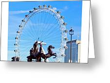 Boudica Riding The Millennium Wheel Greeting Card