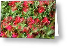 Bougainvillea Repeating Pattern Abstract I Greeting Card