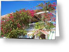 Bougainvillea Villa Greeting Card