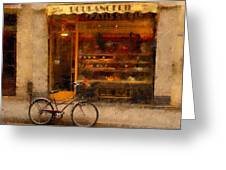 Boulangerie And Bike 2 Greeting Card
