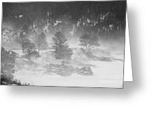 Boulder Canyon And Nederland Winter Landscape Greeting Card