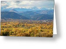 Boulder Colorado Autumn Scenic View Greeting Card