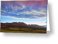 Boulder Colorado Dreaming Greeting Card