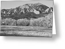 Boulder Colorado Flatiron View From Jay Rd Bw Greeting Card
