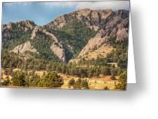 Boulder Colorado Rocky Mountain Foothills Greeting Card