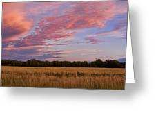 Boulder County Colorado Country Sunset Greeting Card