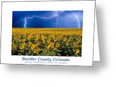 Boulder  County Colorado Greeting Card