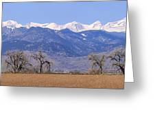 Boulder County Colorado Panorama Greeting Card