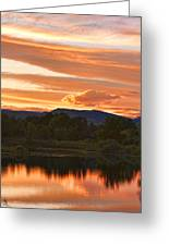 Boulder County Lake Sunset Vertical Image 06.26.2010 Greeting Card
