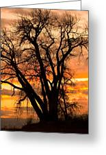 Boulder  County Sunset Greeting Card