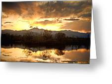 Boulder County Sunset Reflection Greeting Card