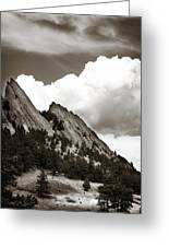 Large Cloud Over Flatirons Greeting Card