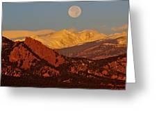 Boulder Moonrise Greeting Card