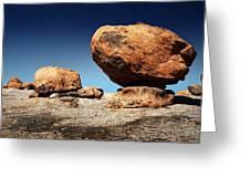 Boulder On Solid Rock Greeting Card