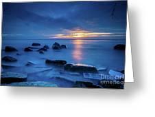 Boulder Point Sunrise Greeting Card