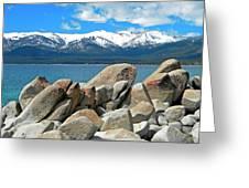Boulder Shore Lake Tahoe Greeting Card