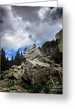 Bouldering On The Flint Creek Trail - Weminuche Wilderness Greeting Card
