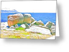 Boulders 4 Greeting Card by Jan Hattingh