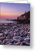 Boulders At Dawn - Vertical Greeting Card