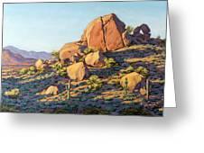 Boulders By Pinnacle Peak Mountain Greeting Card