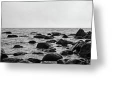 Boulders In The Ocean Greeting Card