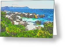 Boulders Greeting Card by Jan Hattingh