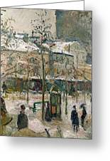 Boulevard De Rocheouart In Snow Greeting Card