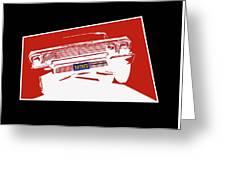 Bounce. '63 Impala Lowrider. Greeting Card